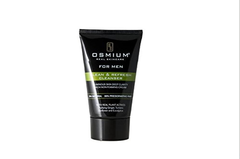 起きるまたねクリックOsmium Clean & Refresh Face Wash 120ml, Natural, London,Osmium 天然成分配合 洗顔ソープ 清潔、爽やか ロンドン製 [並行輸入品]