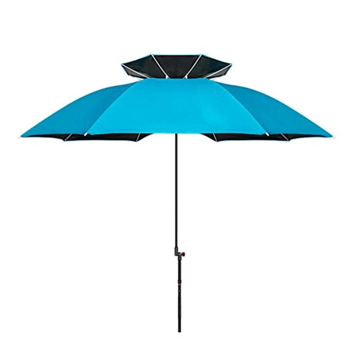 プリーツ構造的移住する太陽傘アルミ合金黒ガム布日焼け止め雨折りたたみ傘屋外サンシェード傘 (Size : H2.15m)