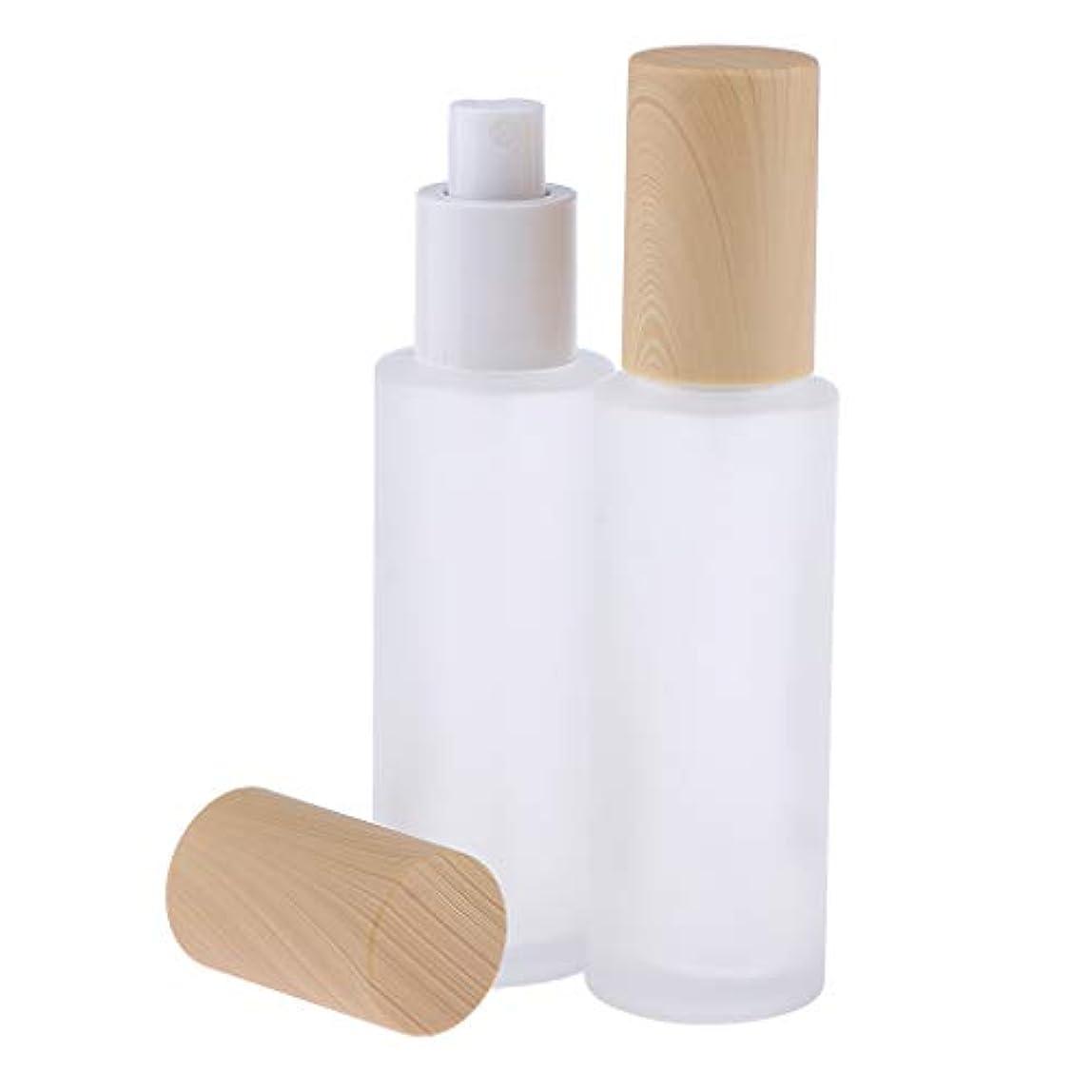 ハシー製造再びB Baosity 2個 ポンプボトル 香水ボトル ガラス ミストスプレー 旅行 便利 6サイズ選べ - 60ミリリットル