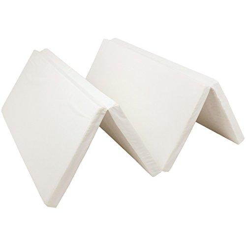 タンスのゲン 【国産】 高反発マットレス 4つ折り シングル 硬め 150N 厚み5cm 軽量 ホワイト 23300037 00
