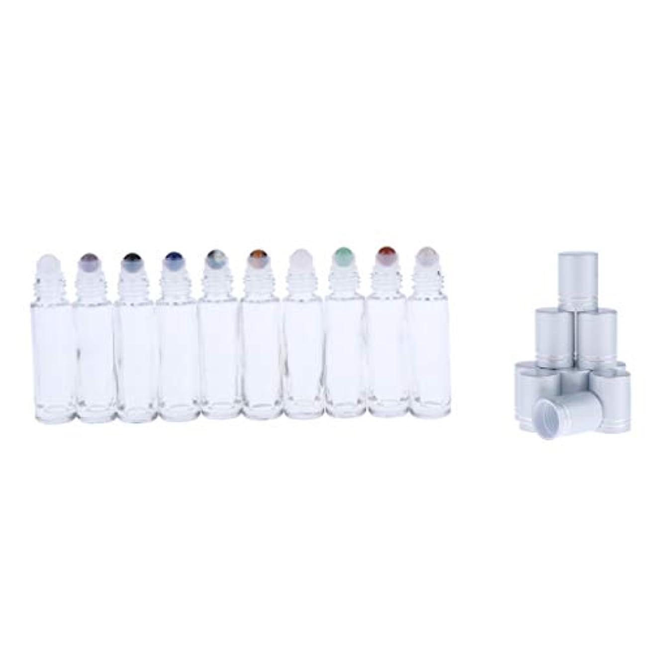 卒業おびえた疎外10ml ロールオンボトル ガラス容器 透明 香水 アロマ 精油 小分け用 見分け携帯便利 10個入