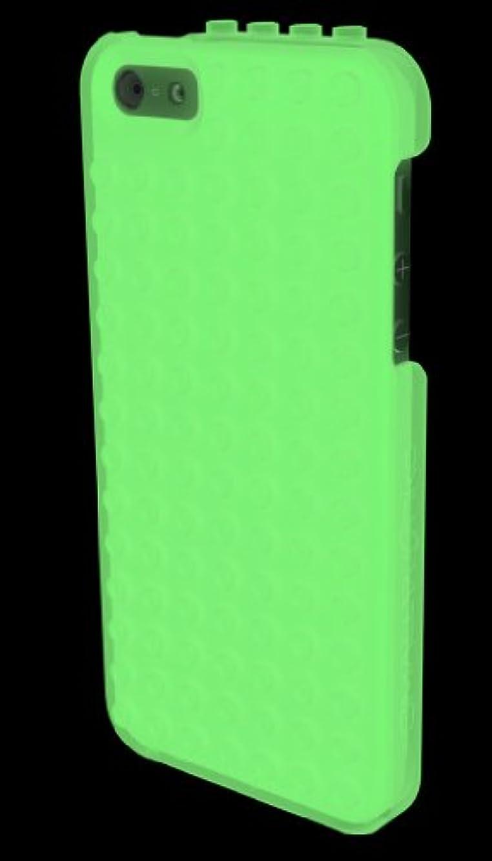 理解不従順ヒゲSMALLWORKS 【iPhone 5/5s用レゴができるケース】LEGO brick compatible case for iPhone 5/5s グロー LEGO IP5-BKGL