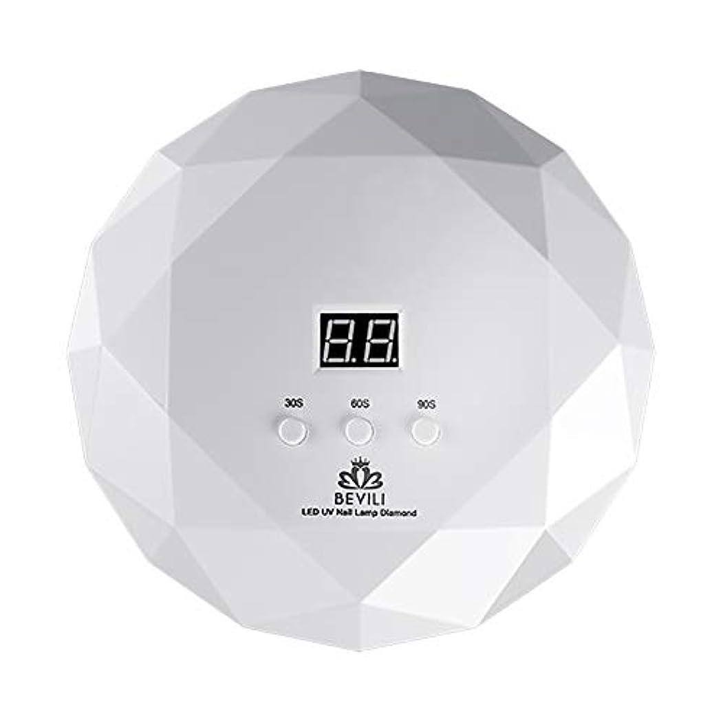 放射能反響する収束LITI LEDネイルドライヤー UVネイルライト 36Wハイパワー 自動センサー 3段階タイマー設定 高速硬化ジェルネイルライト UVとLEDダブルライト肌をケア ジェルネイル用 ホワイト