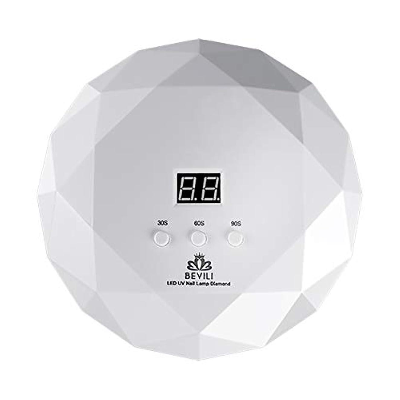 インシュレータスパーク資格LITI LEDネイルドライヤー UVネイルライト 36Wハイパワー 自動センサー 3段階タイマー設定 高速硬化ジェルネイルライト UVとLEDダブルライト肌をケア ジェルネイル用 ホワイト