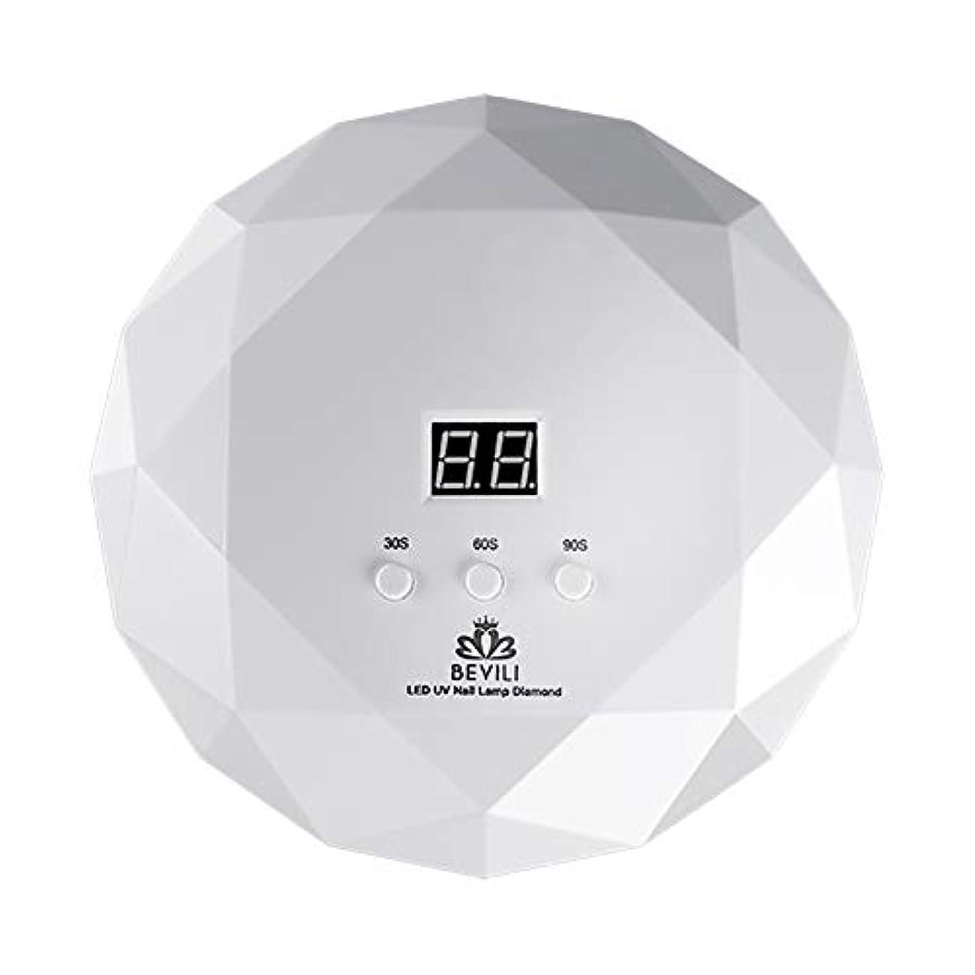 そう有望知るLITI LEDネイルドライヤー UVネイルライト 36Wハイパワー 自動センサー 3段階タイマー設定 高速硬化ジェルネイルライト UVとLEDダブルライト肌をケア ジェルネイル用 ホワイト