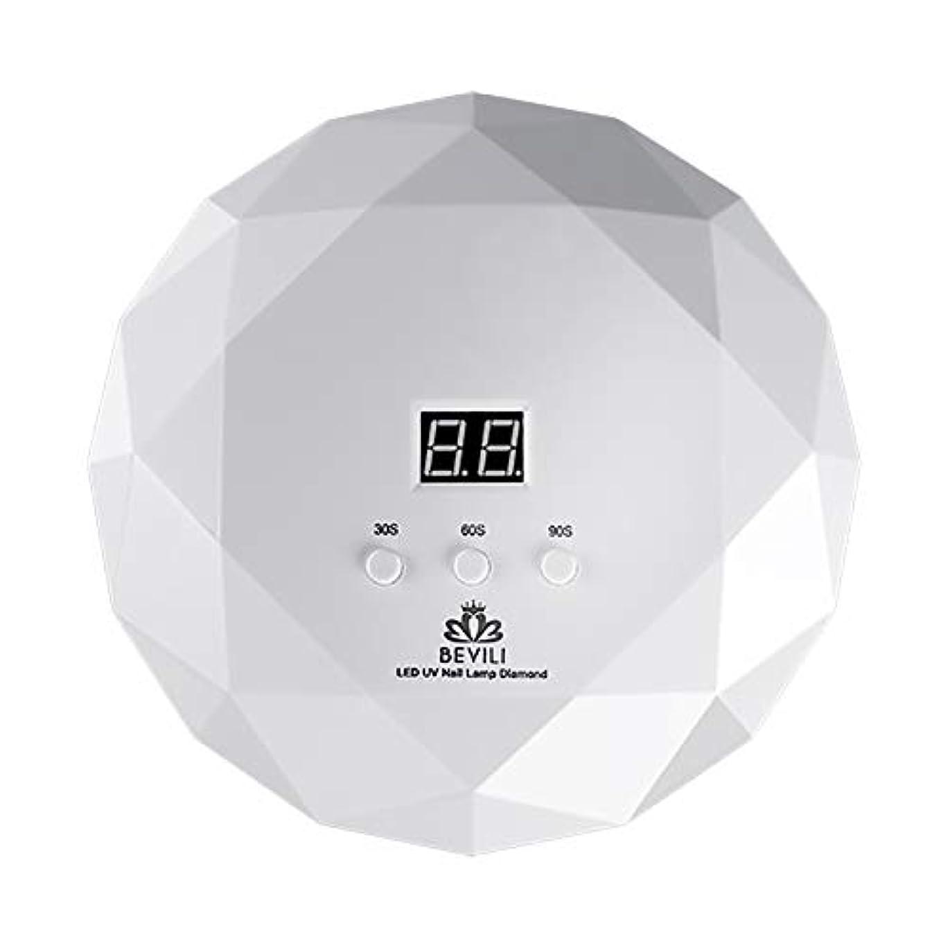 ポーンウッズ溶接LITI LEDネイルドライヤー UVネイルライト 36Wハイパワー 自動センサー 3段階タイマー設定 高速硬化ジェルネイルライト UVとLEDダブルライト肌をケア ジェルネイル用 ホワイト