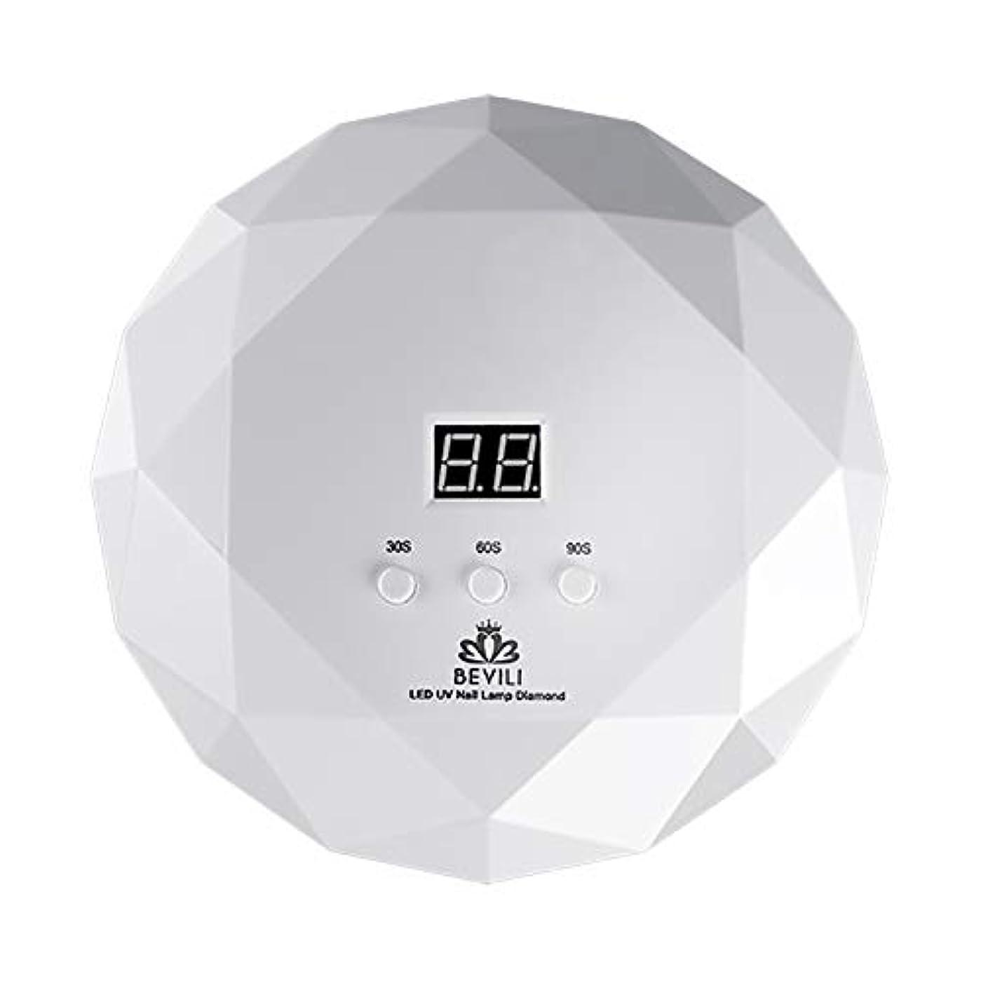 ウィンク領収書衰えるLITI LEDネイルドライヤー UVネイルライト 36Wハイパワー 自動センサー 3段階タイマー設定 高速硬化ジェルネイルライト UVとLEDダブルライト肌をケア ジェルネイル用 ホワイト