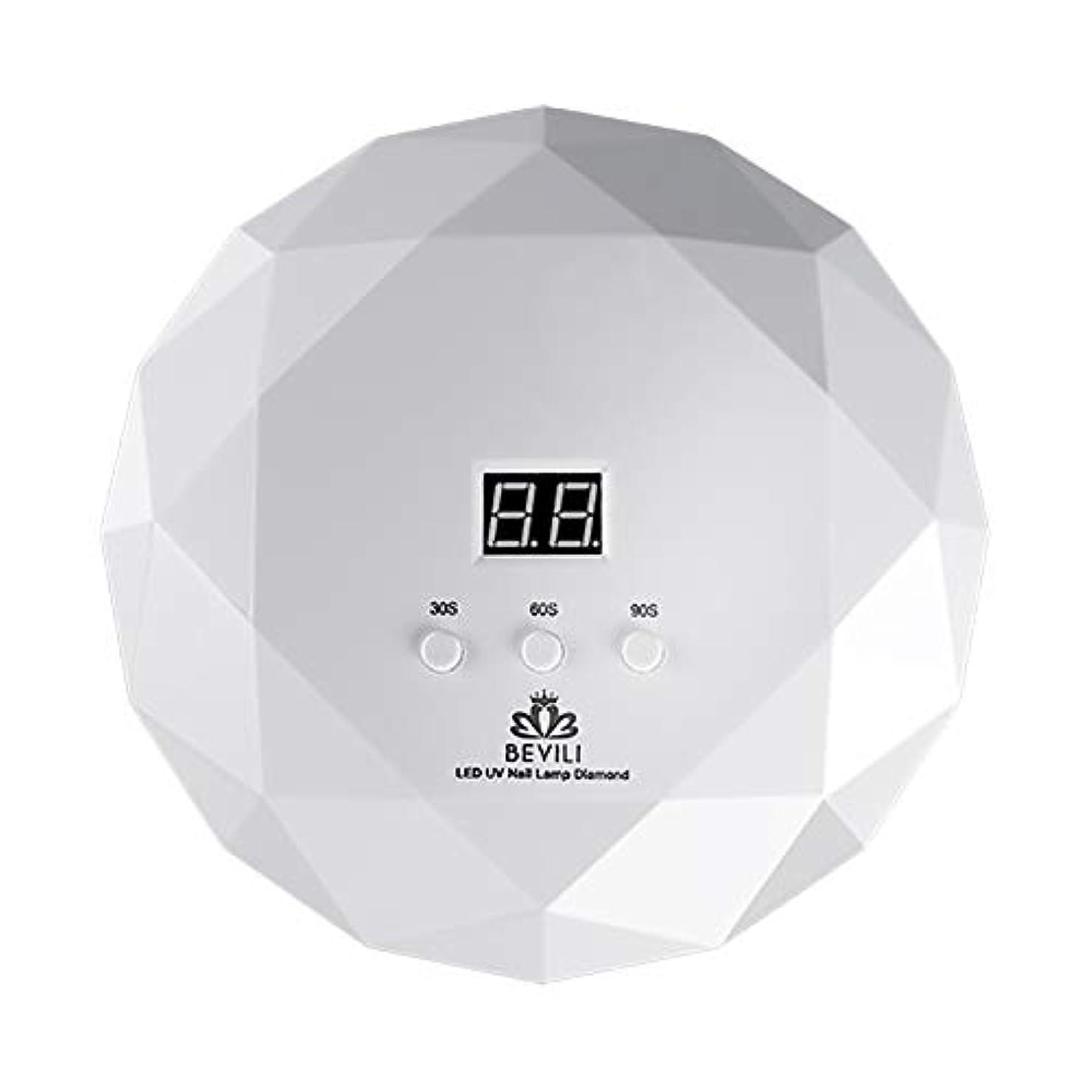 LITI LEDネイルドライヤー UVネイルライト 36Wハイパワー 自動センサー 3段階タイマー設定 高速硬化ジェルネイルライト UVとLEDダブルライト肌をケア ジェルネイル用 ホワイト