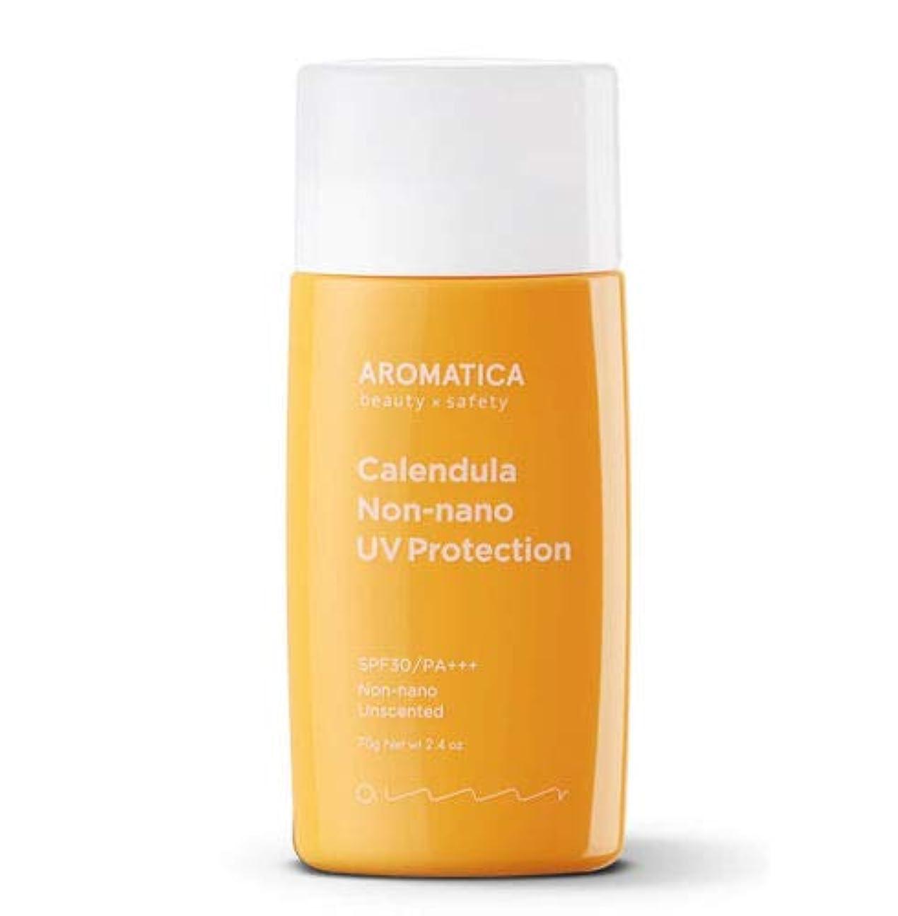 バレル粗い上げるAROMATICA アロマティカ Calendula NON-NANO UV Protection Unscented サンクリーム 70g SPF30/PA+++ 米国 日焼け止め