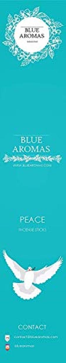 賛辞路面電車微妙Blue Aromas Peace Incense Sticks Agarbatti  Pack of 8, 10 Sticks in Each Pack Incense   Export Quality