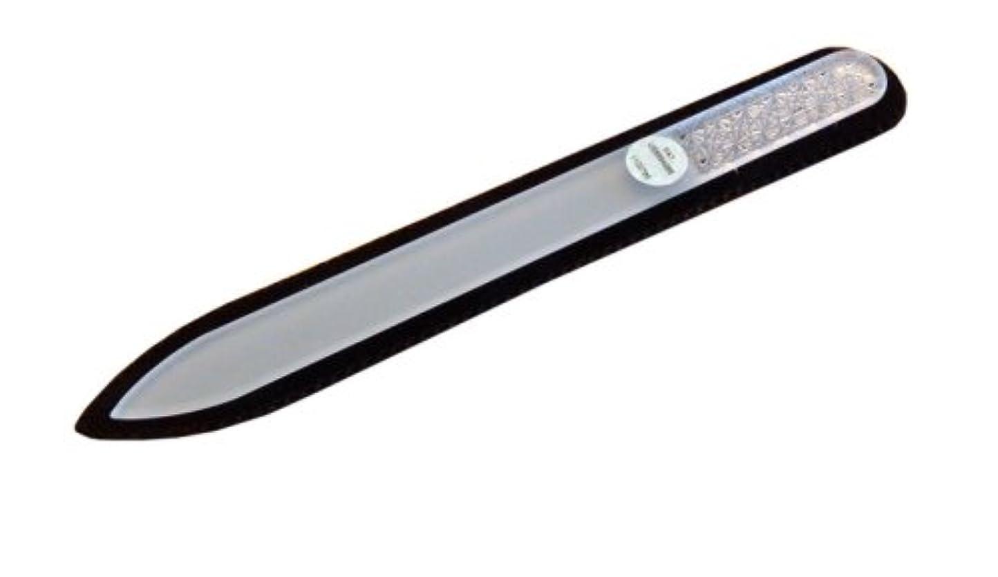 紀元前降雨出席するブラジェク ガラス爪やすり 140mm 両面タイプ ボヘミアカットPK01