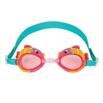 ステファンジョセフ 女の子用水色xピンク熱帯魚さんのスイムゴーグル [並行輸入品]