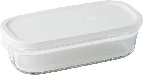 イワキ 保存容器 パック&レンジ 浅型 ハーフ 500ml ホワイト KN3246-W