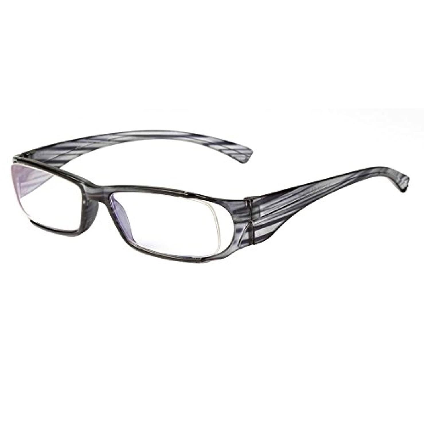(レンサン) LianSan老眼鏡 軽量 ストライプ メンズ レディース 男性 女性 おしゃれ リーディンググラス シニアグラス 老眼鏡 L3216 (+1.50, グレー) …
