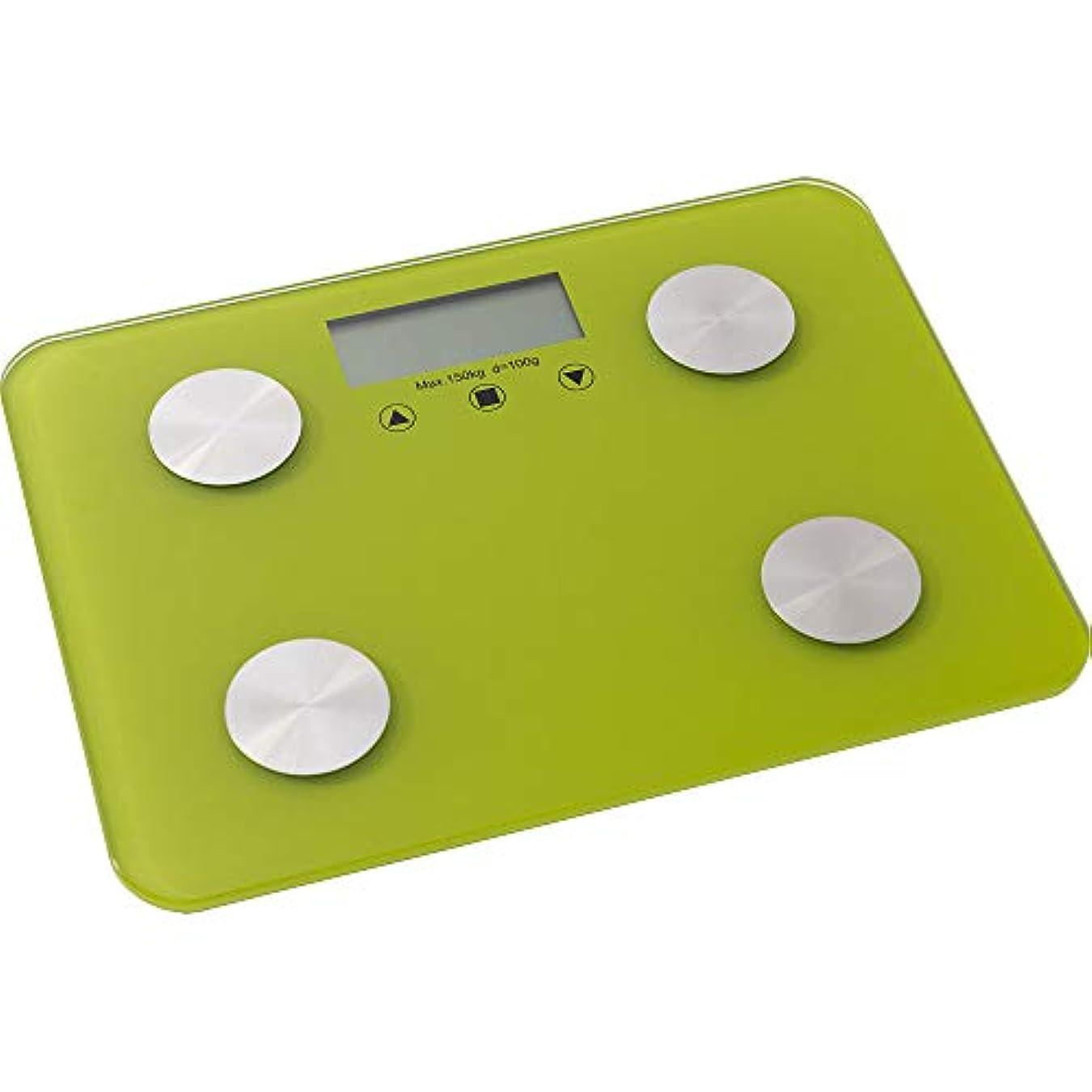 鉛暗唱するとにかくSIS 体組成計 体重計 体脂肪計 基礎代謝 体水分量 ヘルスメーター グリーン