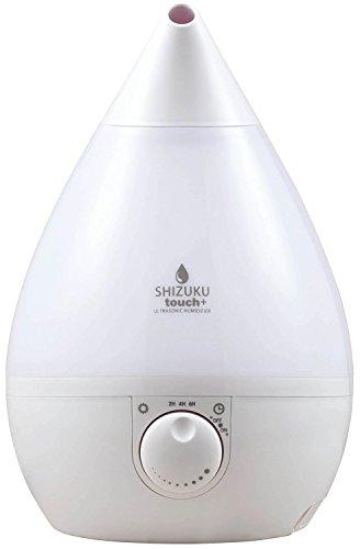 APIX 超音波式アロマ加湿器(タンク容量3.3L) 【SHIZUKU touch+】 タッチパネル・OFFタイマー ピュアホワイト AHD-015-WH