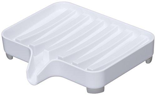 山崎実業 石鹸置き 水が流れる ソープトレー ミスト ホワイト