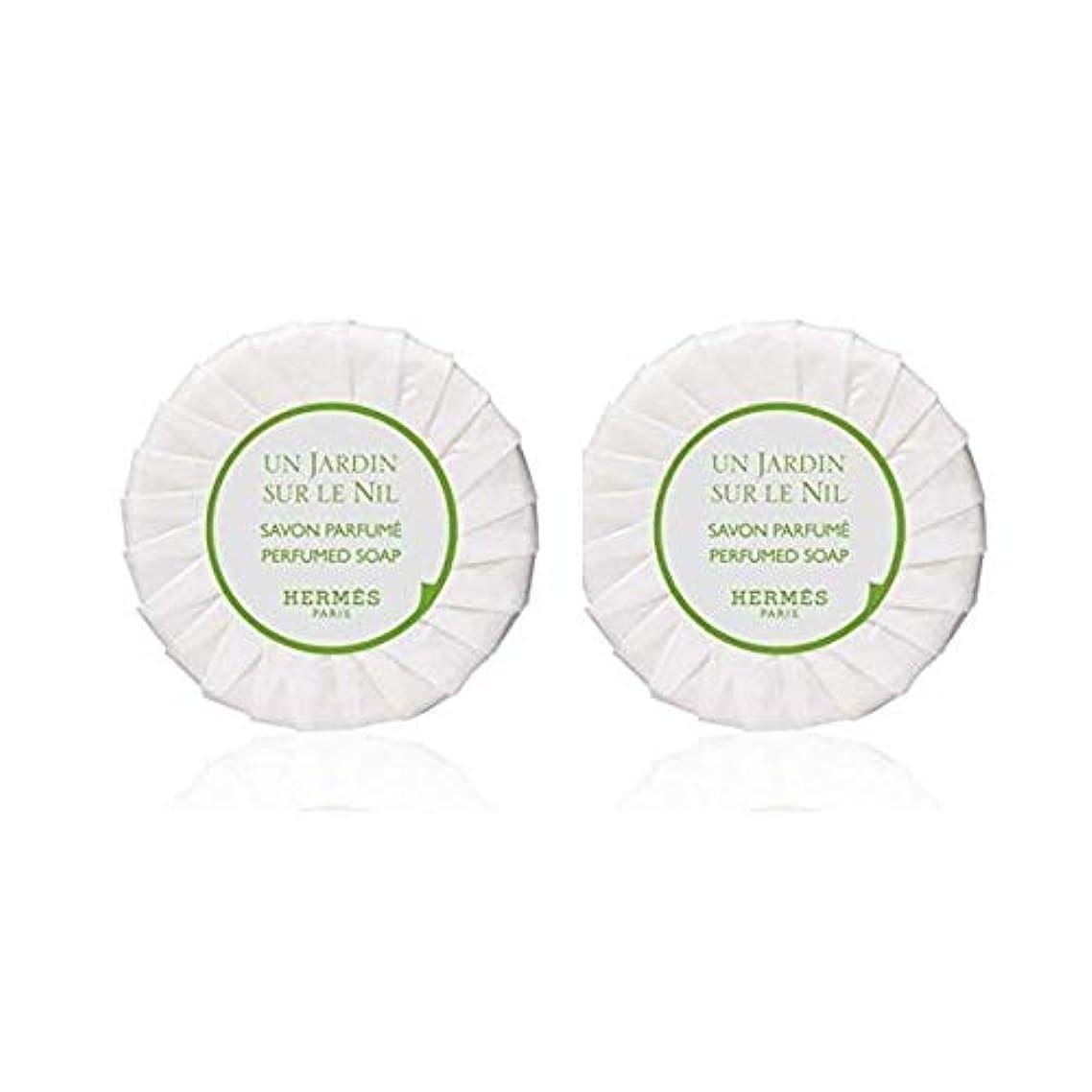 アレルギー気候伝染性のエルメス HERMES ナイルの庭 ソープ ケースなし50g ×2個セット [並行輸入品]