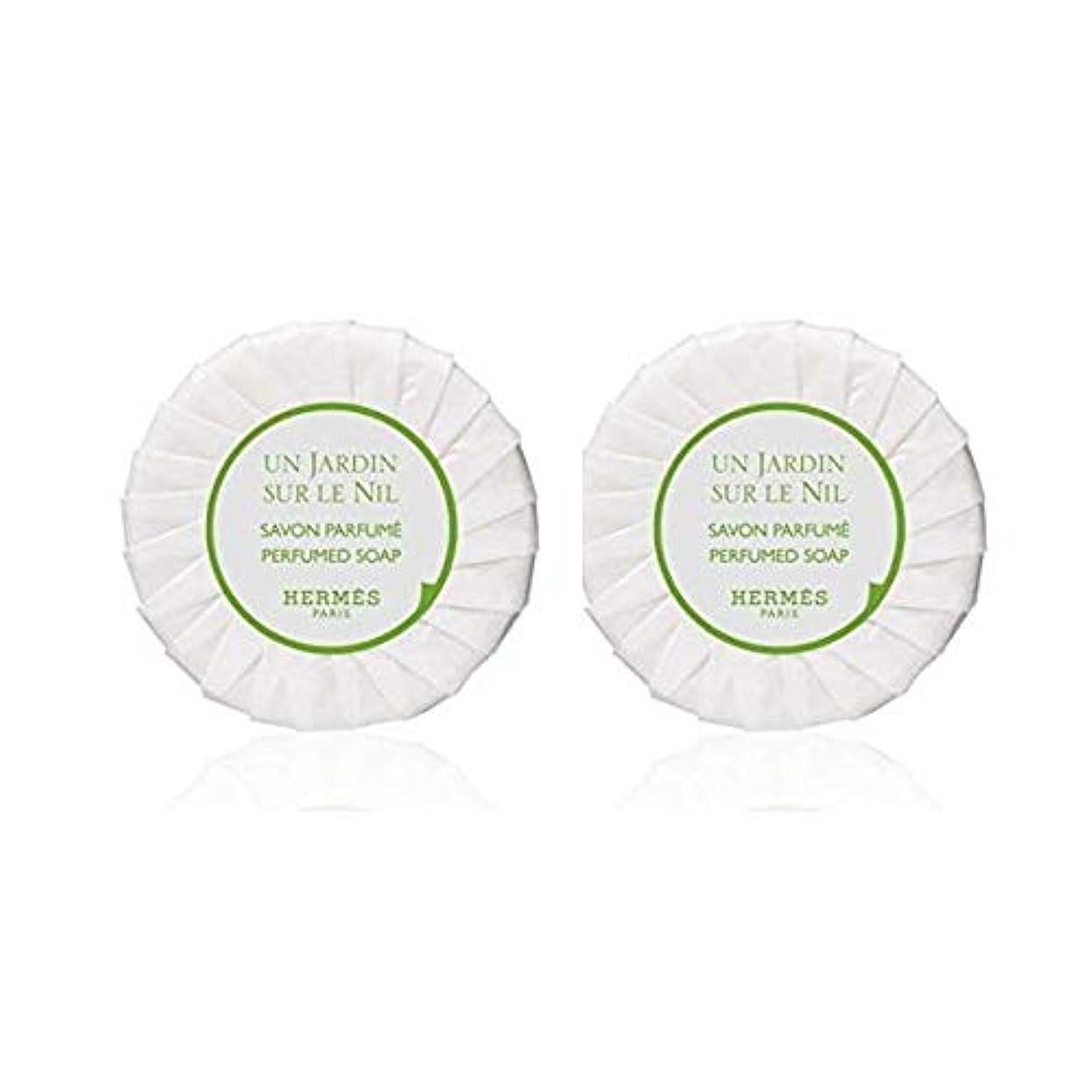 軽量香水押し下げるエルメス HERMES ナイルの庭 ソープ ケースなし50g ×2個セット [並行輸入品]