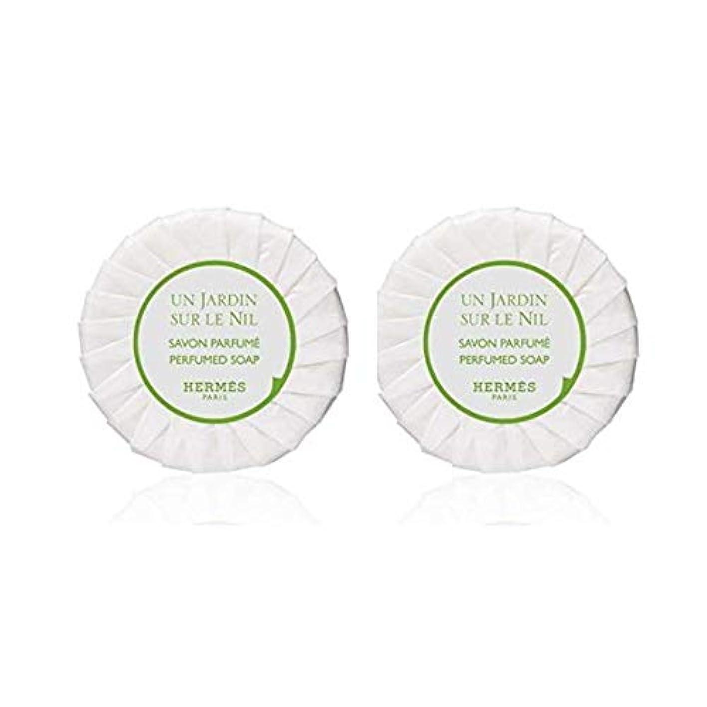 慣性スペイン理容師エルメス HERMES ナイルの庭 ソープ ケースなし50g ×2個セット [並行輸入品]
