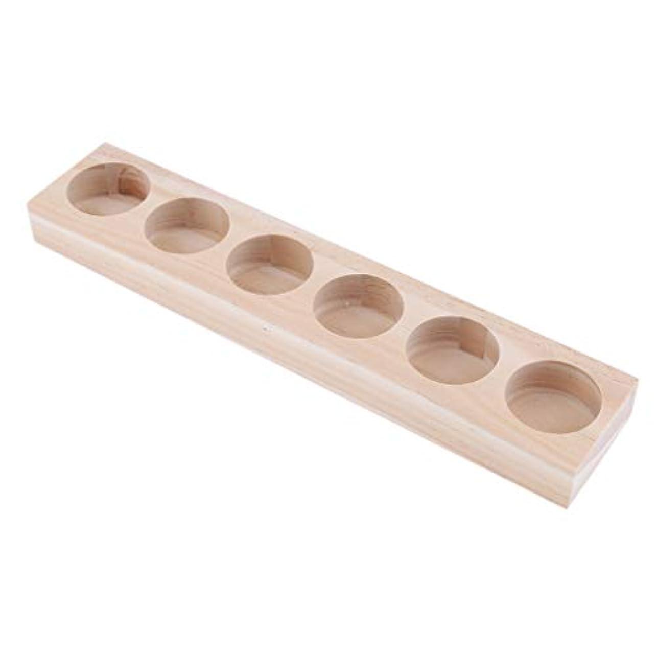イチゴ周波数ローンFLAMEER 精油/香水/マッサージオイル/化粧品ボトル 天然木 エッセンシャルオイル 6本入 展示 ラック