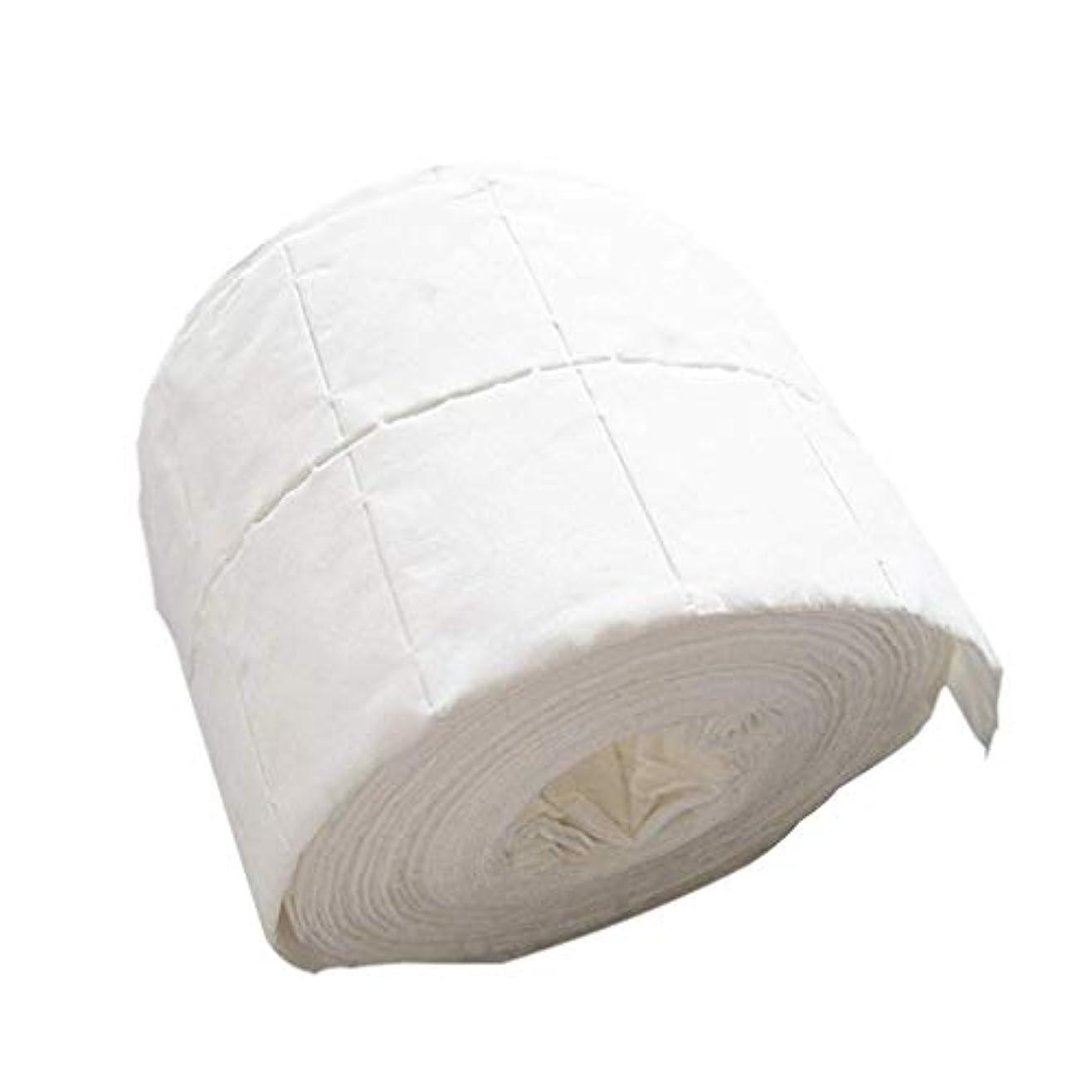 乳白高める森林1st market 耐久性のあるリントフリーワイプネイルポリッシュアクリルジェルリムーバータオル紙コットンパッドロールサロンネイルアートクリーナーツール、500個