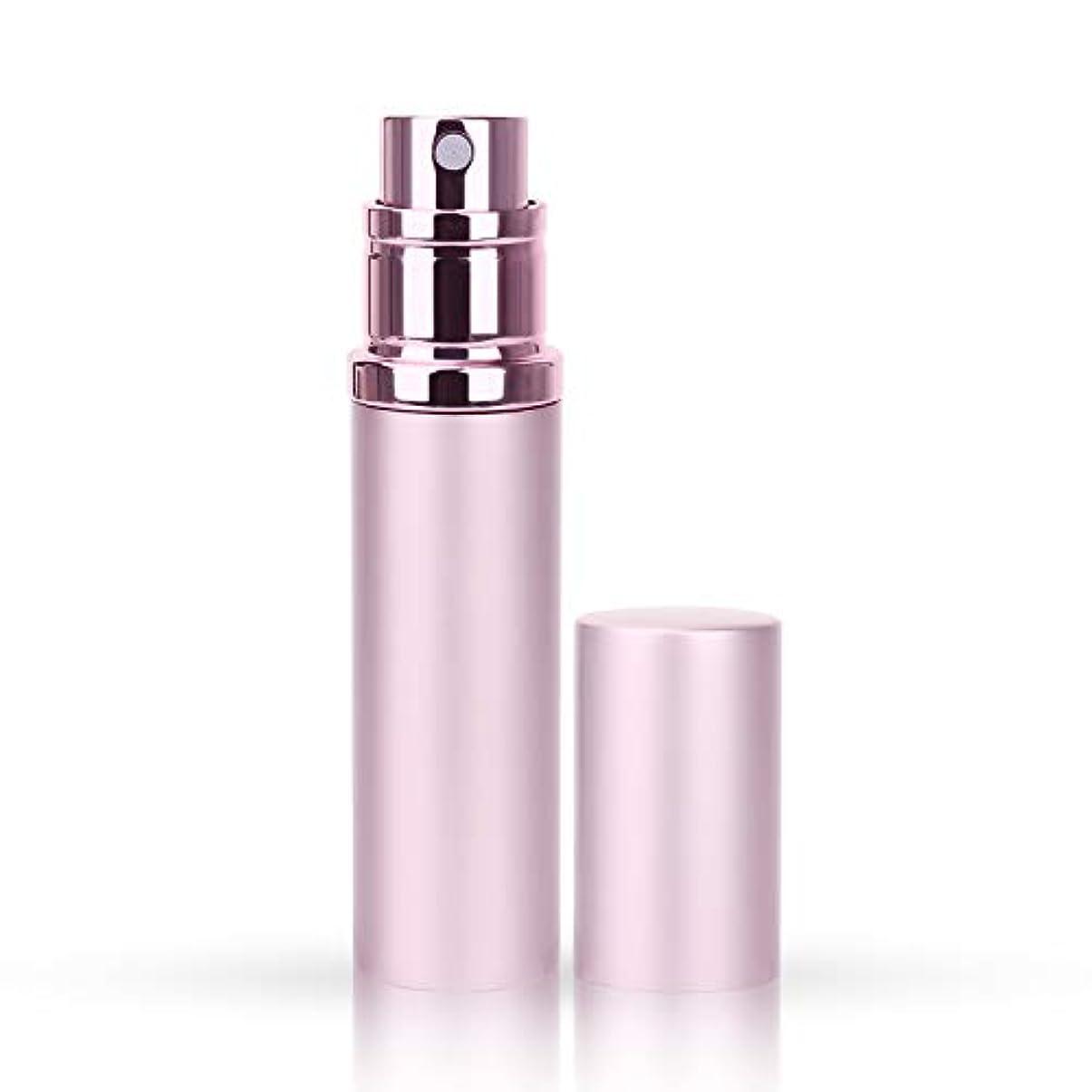 ホールド最終回るMOOMU アトマイザー 香水スプレー 噴霧器 詰め替え容器 底部充填方式 携帯用5ml (ピンク Pink)