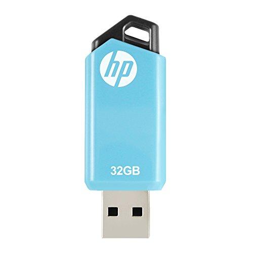 HP USBメモリ 32GB USB 2.0 キャップレス スライド式 青色のフラッシュドライブ v150w HPFD150W-32