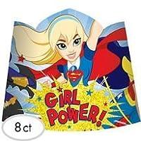 DCスーパーヒーローガールズティアラHats 8Count誕生日パーティーSupplies