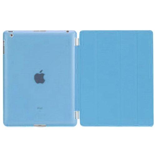 MS factory iPad2 iPad3 iPad4 スマート カバー バック ケース 水色 IPD-SSET-SKY