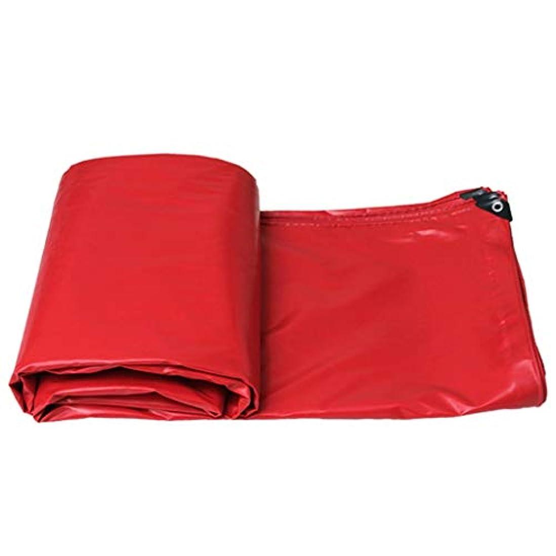 聞きます巨大な揺れる日よけ布厚い防水防雨屋外日よけ布油布日焼け止め布防水シートトラック防水シートキャンバス (Color : Red, Size : 3x6m)