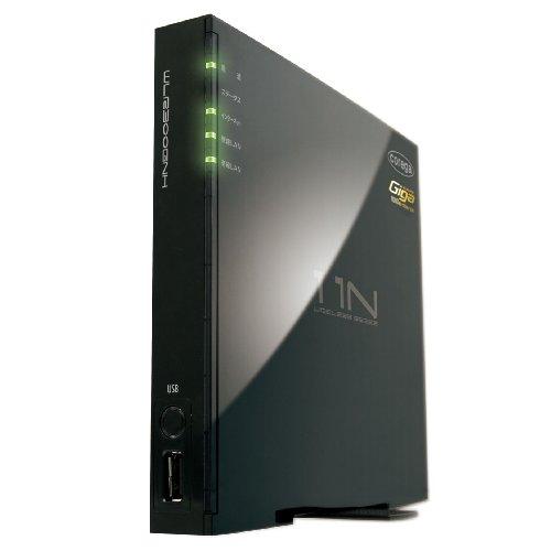 Corega Draft 11n準拠(11g/b)規格対応 無線LANルーター 有線ポートオールギガ対応 USBポート搭載 WPS搭載 CG-WLR300GNH