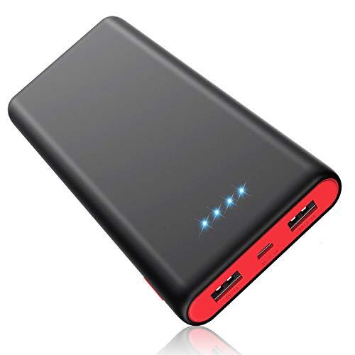 モバイルバッテリー 25800mAh 大容量 【PSE認証済】急速充電 2USB出力ポート 残量表示 スマホ充電器 iPhone/iPad/Android機種対応