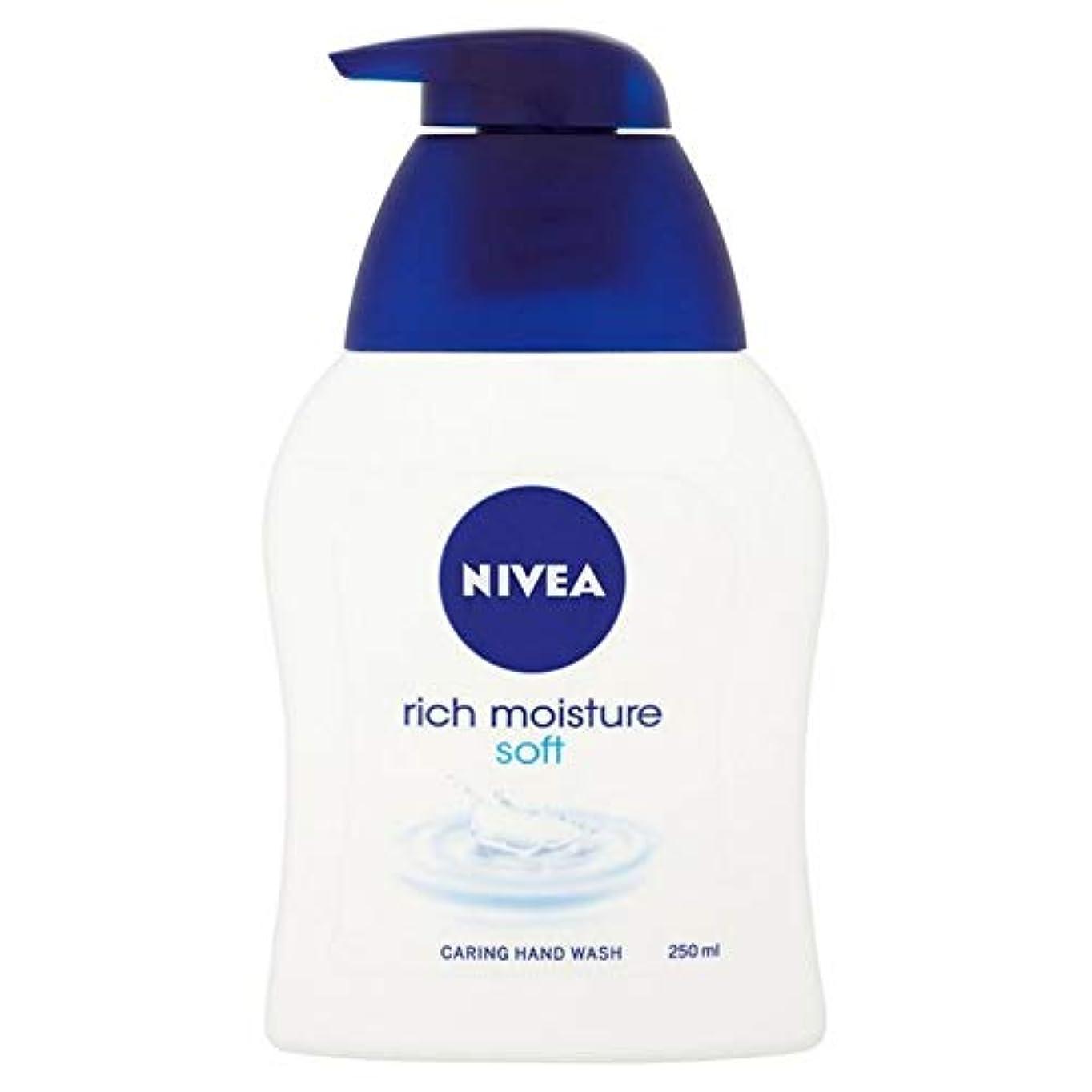 カビ足音美人[Nivea ] ニベア豊富な水分ソフト思いやり手洗いの250ミリリットル - Nivea Rich Moisture Soft Caring Hand Wash 250ml [並行輸入品]
