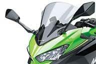 2018年 Ninja400/Ninja400 KRT Edition Kawasaki純正アクセサリー 大型ウインドシールド(スモーク) 999941045