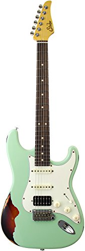 Suhr Guitars 2017 Limited Edition Classic Antique Pro Seafoam Green over 3TB Indian Rosewood FB w/SSC2