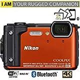 Nikon Coolpix w30016MP 4K Ultra HD防水デジタルカメラ(オレンジ)–(認定Refurbished)