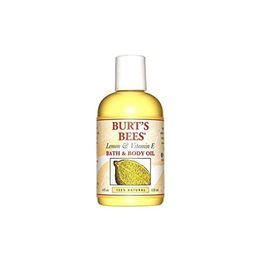 祖母抜本的な飲食店バーツビーレモン&ビタミンバス&ボディオイル(4オンス/ 118ミリリットル) x4 - Burt's Bees Lemon & Vitamin E Bath & Body Oil (4 fl oz / 118ml) (Pack of 4) [並行輸入品]