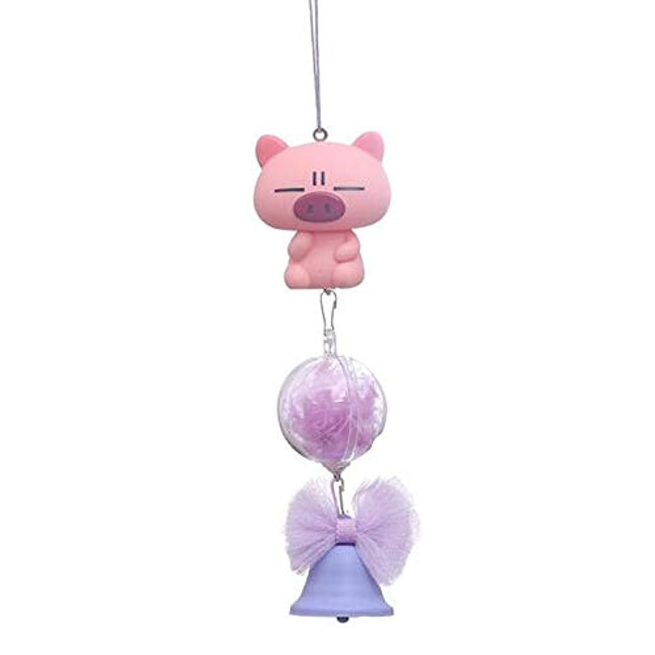 地球見込み持参Chengjinxiang 風チャイム、シリコーン素材クリエイティブ豚の風チャイム、パープル、全身について27cmの,クリエイティブギフト (Color : Purple)