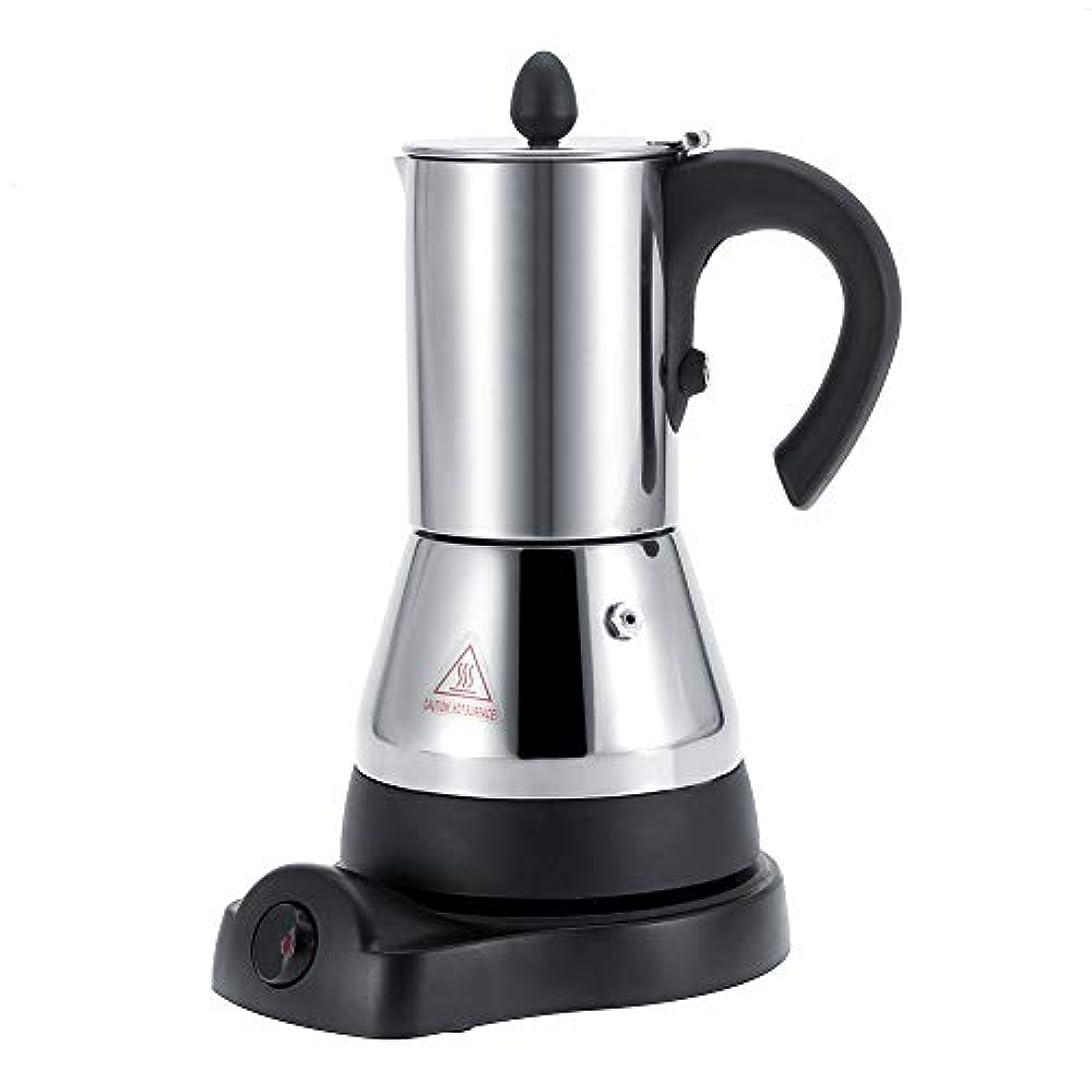 晴れ検出器心配電気コーヒーメーカー、ステンレススチールエスプレッソ、カプチーノマシンステンレススチールモカポットコーヒーメーカー (300ml)