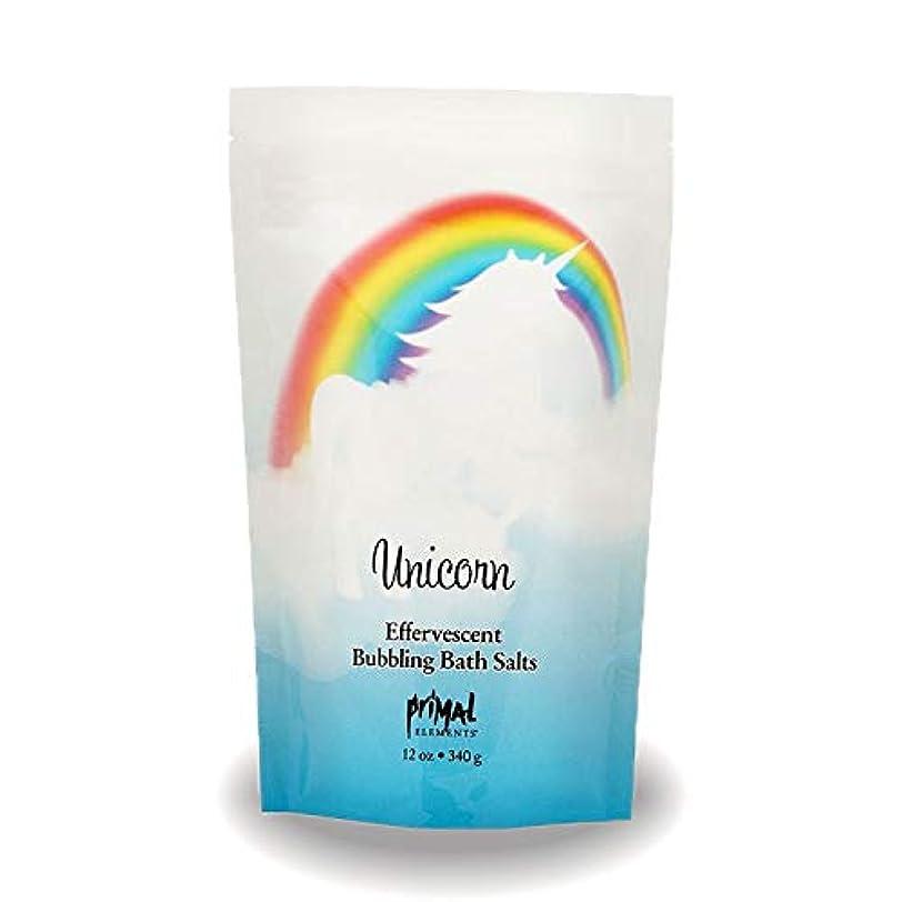 プライモールエレメンツ バブリング バスソルト/ユニコーン 340g エプソムソルト含有 アロマの香りがひろがる泡立つ入浴剤