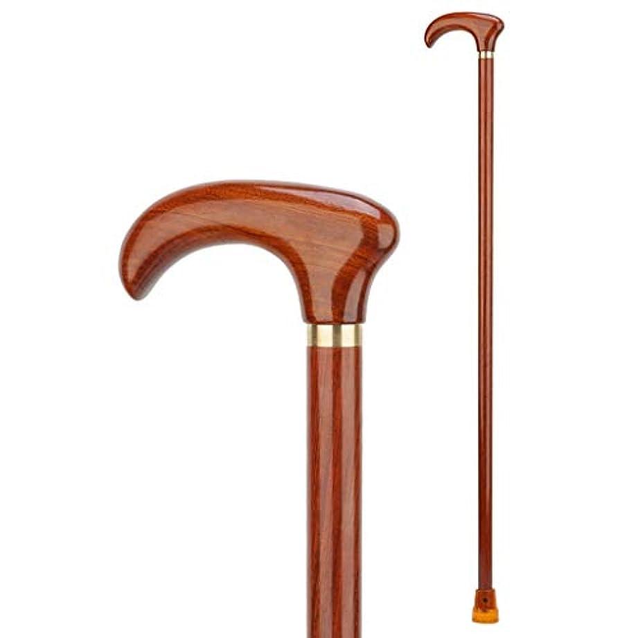 挑むグッゲンハイム美術館一節木製ステッキ、グロス仕上げ、長さとのバランス、柔軟性と耐久性のあるウォーキングエイド、滑らかな高密度木材のための高品質耐久性に優れたケイン:90センチメートル (Color : A)