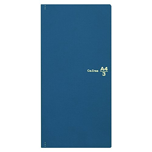 プラス メモ帳 ノート カ.クリエ A4×1/3 プレミアムクロス マットネイビー 77-928