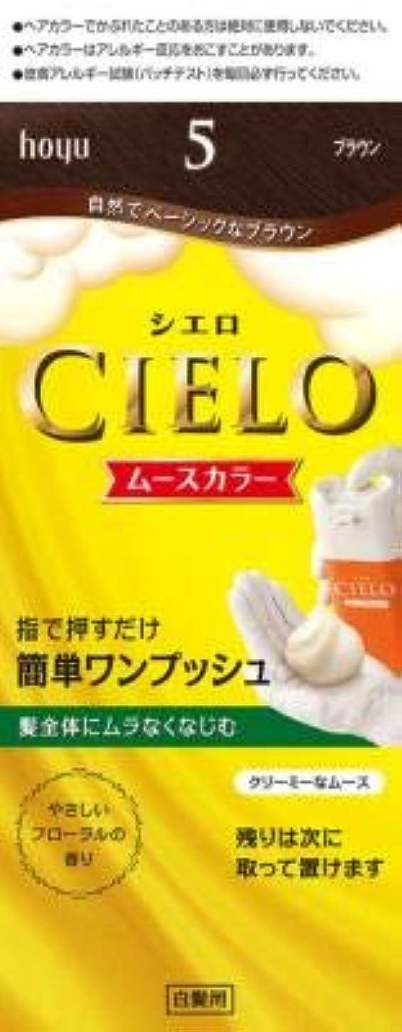 テープ水っぽい試すシエロ ムースカラー 5 ブラウン × 3個セット