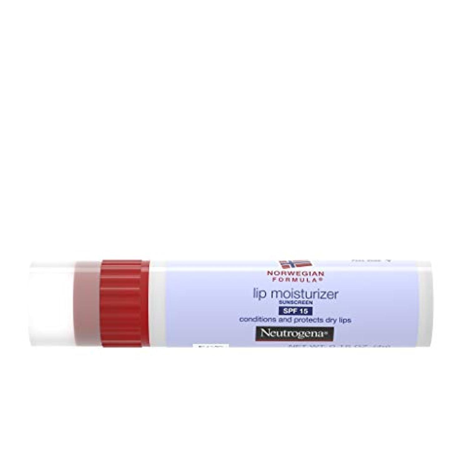 スラダムオーナー輸血Neutrogena Norwegian Formula Lip Moisturizer, SPF 15, 0.15 Ounce (並行輸入品)