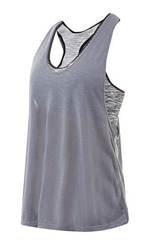 [necker] ヨガウェア ブラトップ カップ付き タンクトップ トップス 速乾 伸縮 (L, 黒)