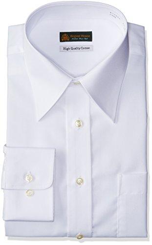 (はるやま) HARUYAMA 豊富な74サイズ展開 ハイクオリティー綿100% 形態安定 白無地レギュラーカラーワイシャツ