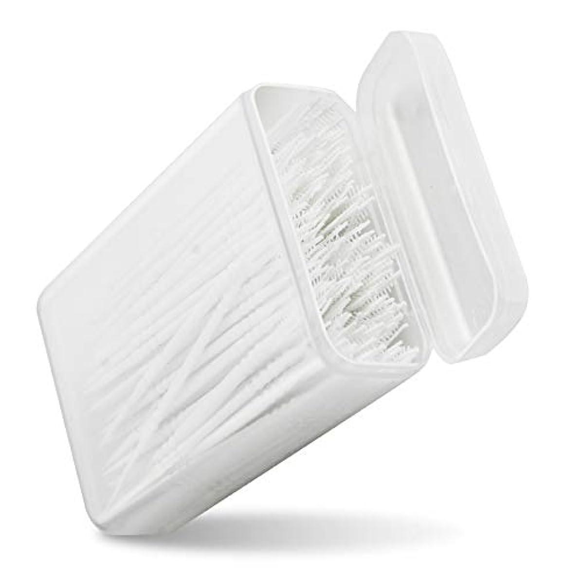 アカウント不運スリチンモイPerPure 歯間ピック 150本入り 2way 極細ブラシ ポータブル ケース付き 白い