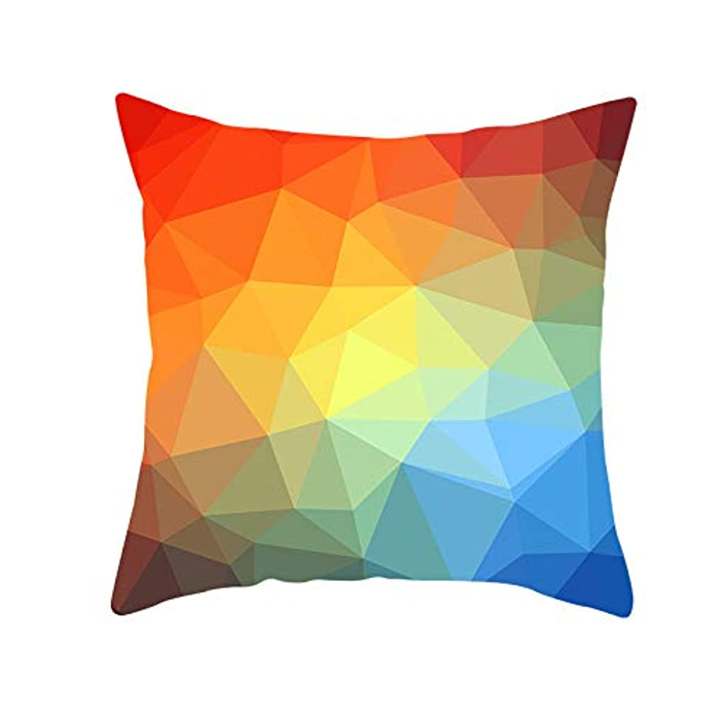 徐々にお尻公然とLIFE 装飾クッションソファ 幾何学プリントポリエステル正方形の枕ソファスロークッション家の装飾 coussin デ長椅子 クッション 椅子