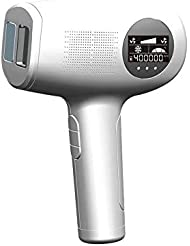 アップグレードIPL脱毛システム、400000点滅パルス光脱毛器プロフェッショナルなアイスクールケア無痛常設脱毛装置家庭用顔、体、脇の下、ビキニゾーン